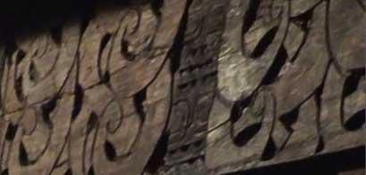 Ornamen dinding rumah adat Bena, Ngada, Flores