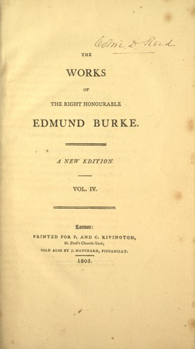 Download The works of the Right Honourable Edmund Burke.