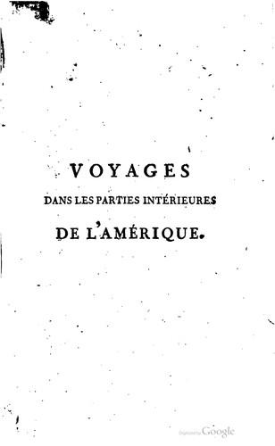 Download Voyages dans les parties intérieures de l'Amérique