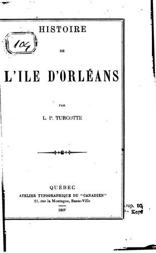 Download Histoire de l'île d'Orléans.