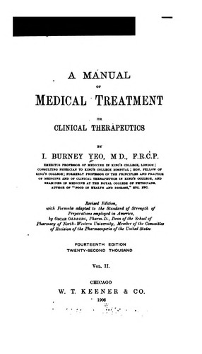 A Manual of medical treatment or Clinical therapeutics. v.2
