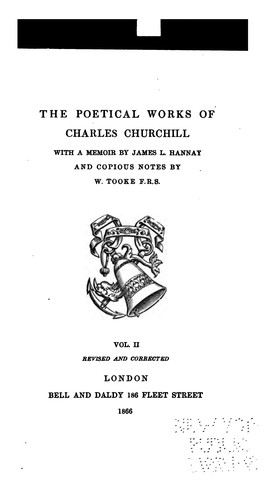 Download The poetical works of Charles, Churchill.