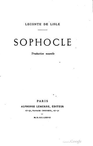 Download Sophocle.