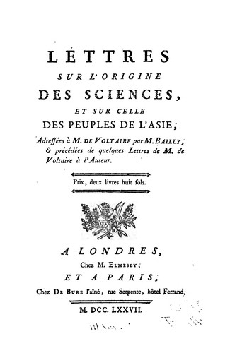 Download Lettres sur l'origine des sciences