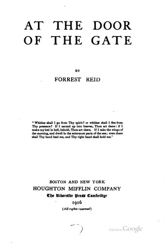 At the door of the gate