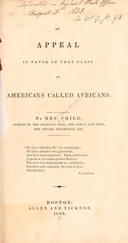 Download An appeal in favor of that class of Americans called Africans.