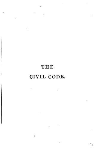 Download The Civil code of the state of California.