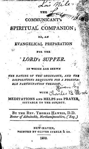 Download The communicant's spiritual companion