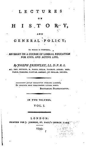 Lectures on history, and general policy