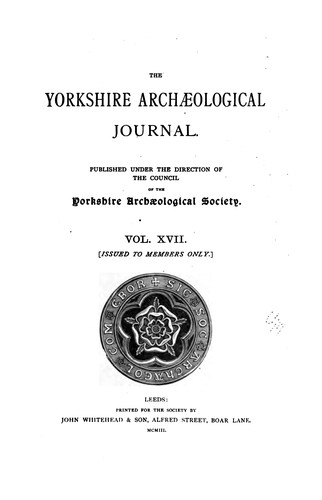 (defective?) The Yorkshire Archaeological Journal