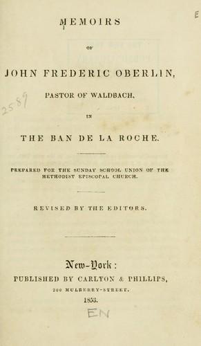 Memoirs of John Frederic Oberlin …