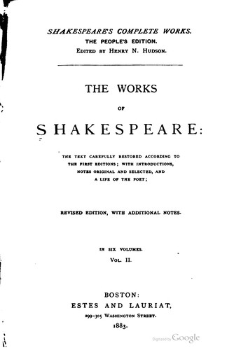 Download The works of Shakespeare …