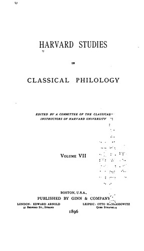 Harvard Studies in Classical Philology, Volume 93