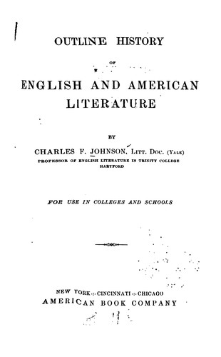 Outline history of English and American literature.
