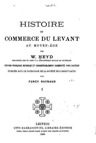 Download Histoire du commerce du Levant au moyen-âge