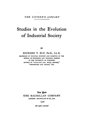 Download Studies in the evolution of industrial society