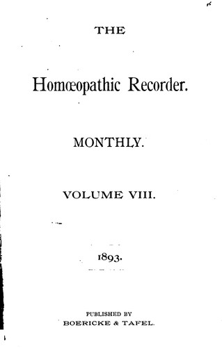 The Homoeopathic Recorder