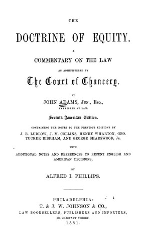 Download The doctrine of equity.
