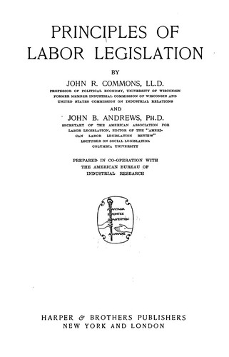Download Principles of labor legislation