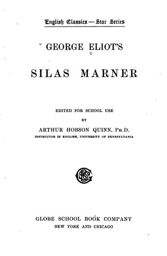 Download George Eliot's Silas Marner