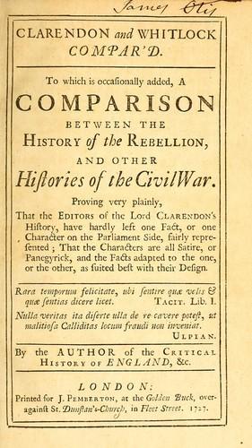 Clarendon and Whitlock compar'd.