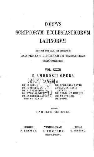 Corpus scriptorum ecclesiasticorum latinorum