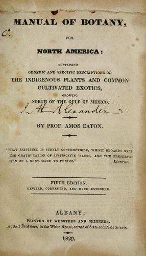 Download Manual of botany, for North America