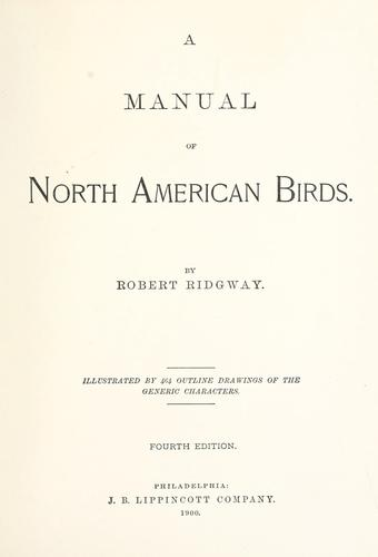 Download A manual of North American birds.