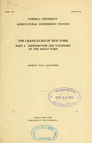 The crane-flies of New York.
