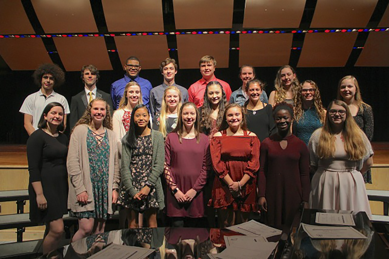 Newark High School National Honor Society Chapter Inducts 20 new members