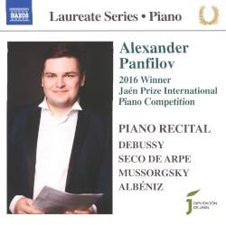 Piano Recital by Debussy ,   Seco de Arpe ,   Albéniz ,   Mussorgsky ;   Alexander Panfilov