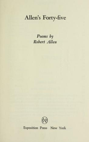 Cover of: Allen's forty-five | Allen, Robert