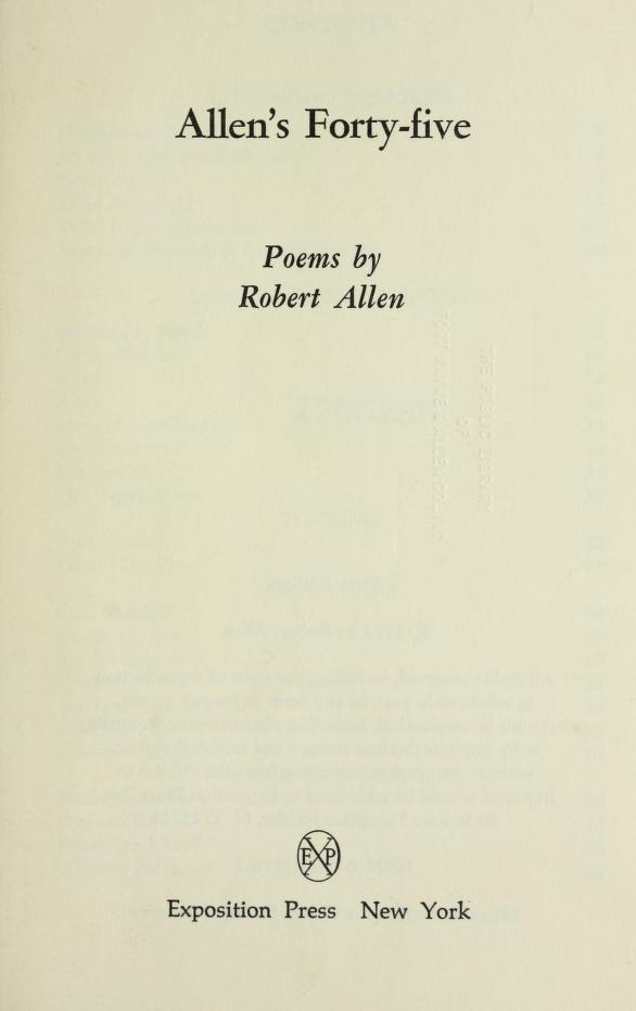 Allen's forty-five by Allen, Robert