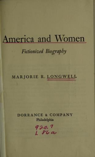 America and women by Marjorie R. Longwell