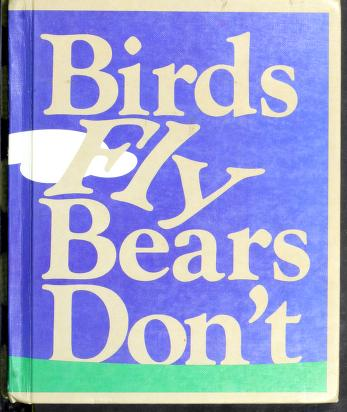 Cover of: Birds Fly Bears Don't | Theodore Clymer