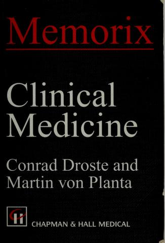 Cover of: Clinical medicine   Conrad Droste