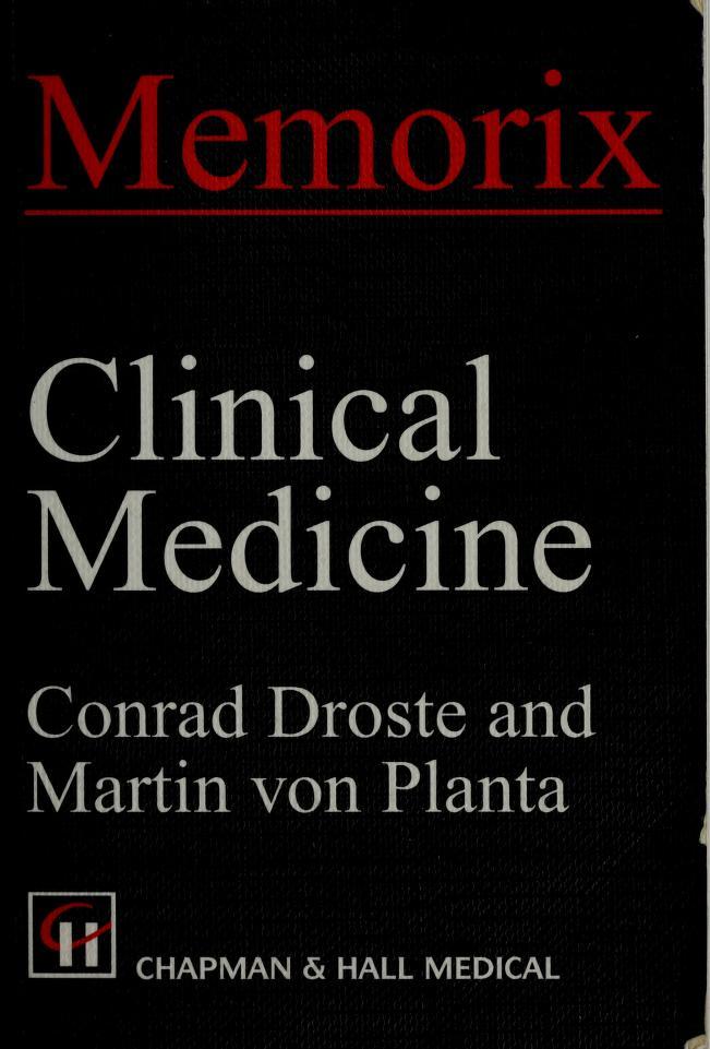 Clinical medicine by Conrad Droste