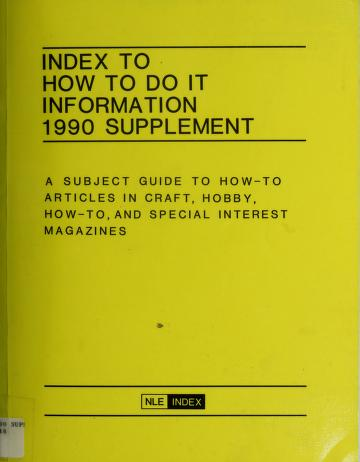 Cover of: Index to How to Do It Information | Norman M. Lathrop