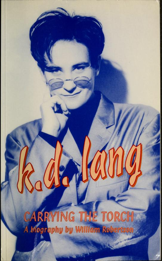 k.d. lang [sic] by Robertson, William B.
