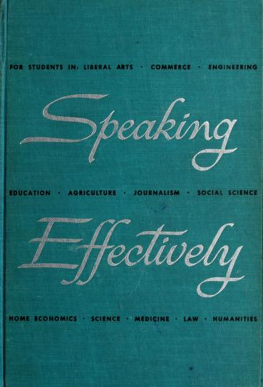 Speaking effectively by Lee Roy Norvelle