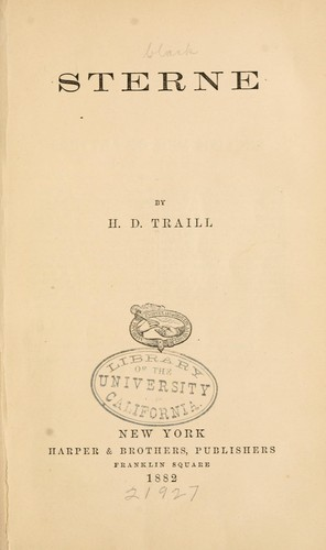 Sterne by Traill, H. D.
