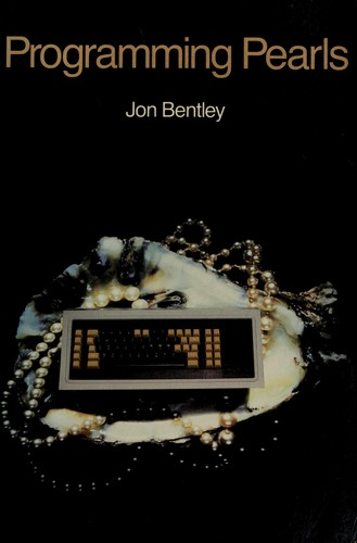 Programming pearls by Jon Louis Bentley