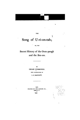 The song of U-ri-on-tah by Uriah Cummings