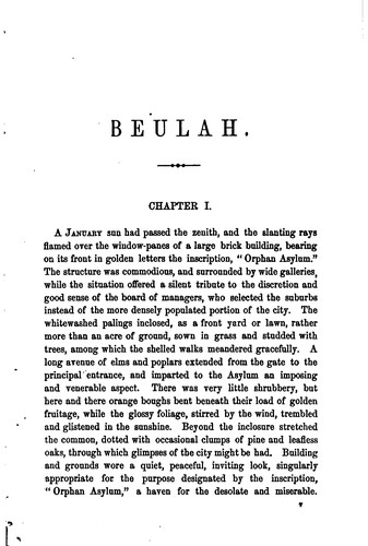 Beulah by Augusta Jane Evans