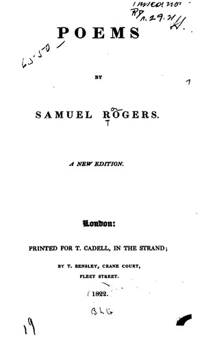 Poems by Samuel Rogers