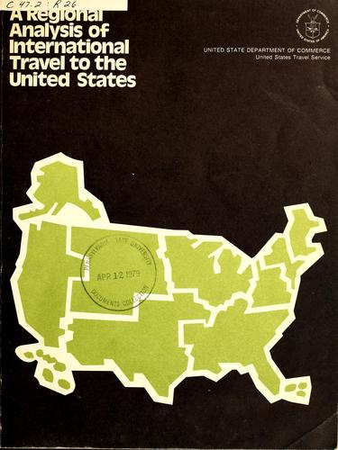 A regional analysis of international travel to the United States.